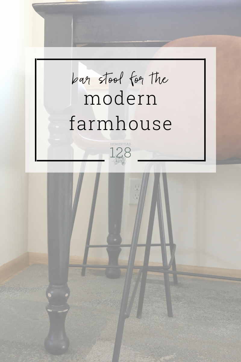 Picking modern farmhouse style bar stools for our small kitchen table | Homestead 128