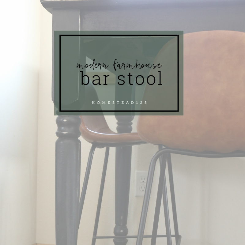 Black and (Faux) Leather Counter Stools
