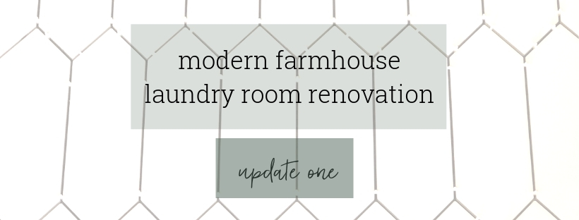 Modern Farmhouse Laundry Room Demo & Tile Floor - One Room