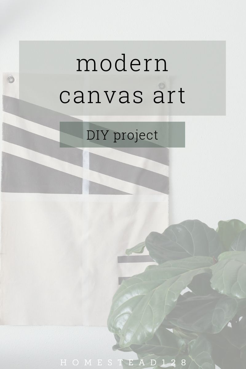 A modern canvas art project - easy decor for the home.