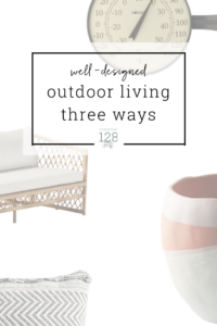 Design an outdoor living space that is comfy and beautiful with these three different styles.