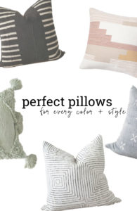 20 perfect pillows for every color and style. Add color to your bedroom and living room.