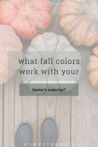Two options for a fall color color palette that works perfectly with the color of your home's exterior.