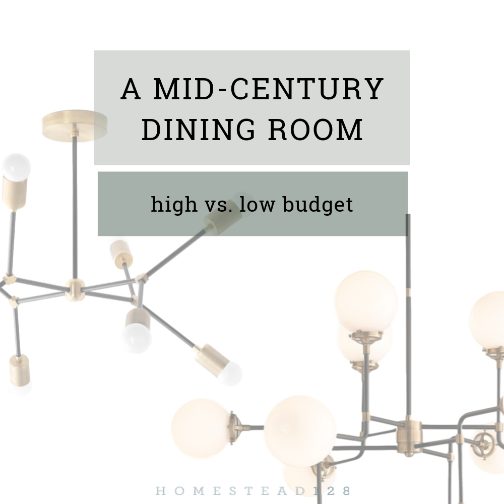 Designing a Mid-Century Dining Room: High Vs. Low Budget