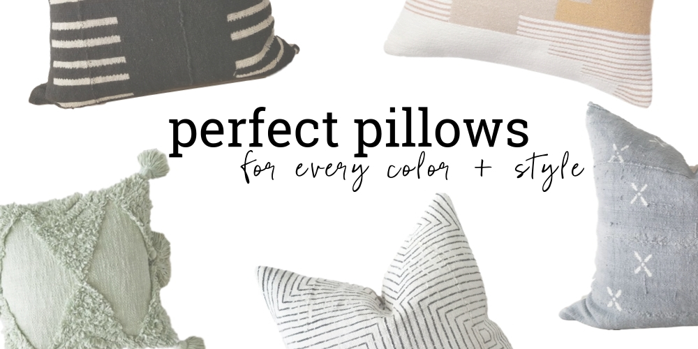 20 throw pillows for any color or style for the bedroom or living room.