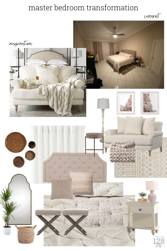 Serene master bedroom transformation