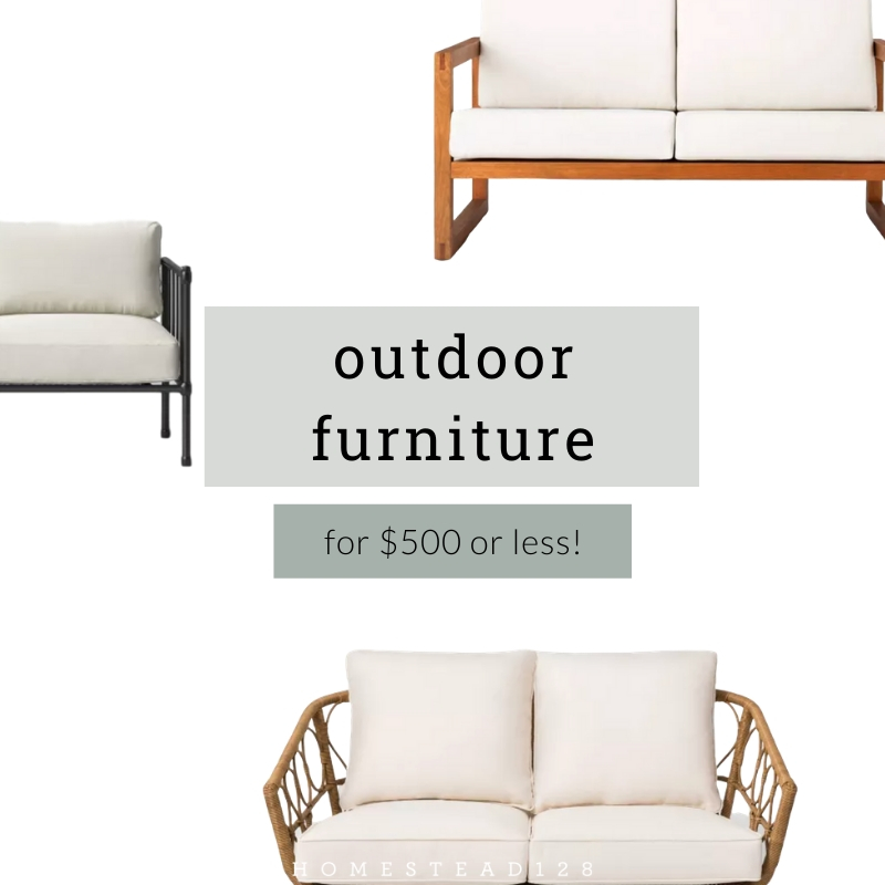 Outdoor Sofas for $500 or Less