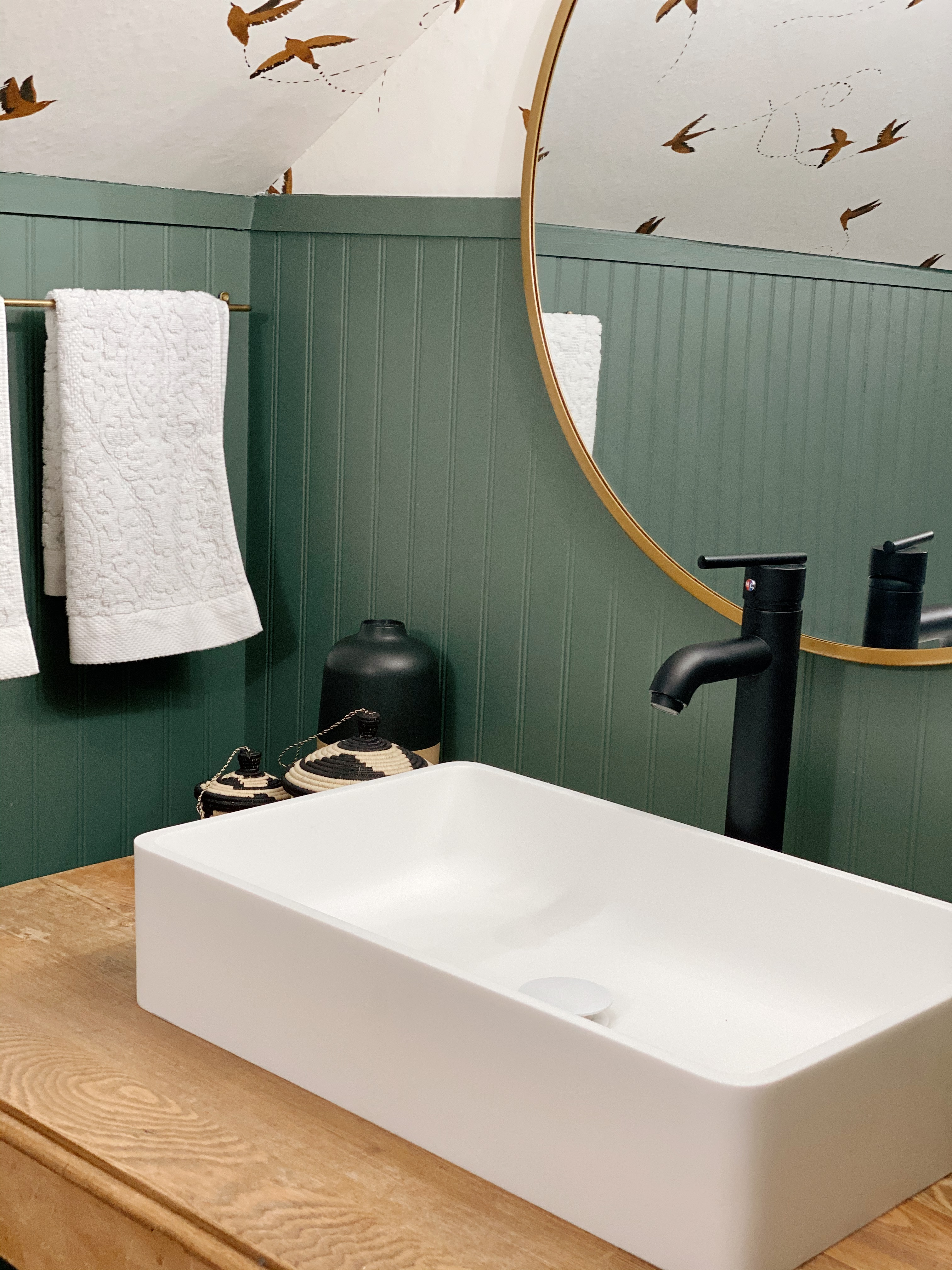 Five things to think about when you are considering creating a vessel sink stand in a bathroom. Check out how we took an old table and transformed it into a bathroom vanity!